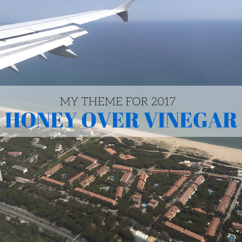 honey over vinegar